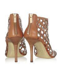 MICHAEL Michael Kors Brown Yvonne Cutout Leather Sandals