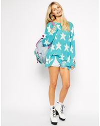 Wildfox White Label - Blue Shooting Star Sweater - Lyst