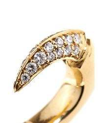 Shaun Leane Diamond & Yellow-Gold Talon Earrings