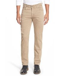 Bugatchi | Natural Five Pocket Straight Leg Pants for Men | Lyst