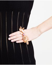 Chanael K | Pink Rose Gold Metal And Corundum Palm Hand-Bracelet | Lyst