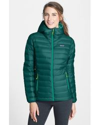 Patagonia | Green Hooded Quilted Jacket | Lyst