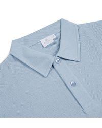 Sunspel - Blue Men's Cotton Riviera Polo Shirt In Sky for Men - Lyst