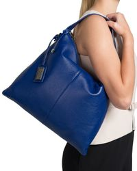 Badgley Mischka   Blue Claudia Soft Pebble Hobo Handbag   Lyst
