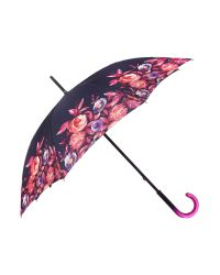 Fulton - Purple Floral Border Kensington Umbrella - Lyst