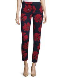Lela Rose - Multicolor Printed Cotton-Blend Pants  - Lyst