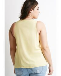 Forever 21 - Yellow Pocket Sleeveless Top - Lyst