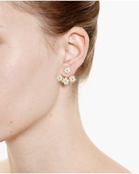 Yvonne Léon Blue 18K Gold And Turquoise Flower Stud