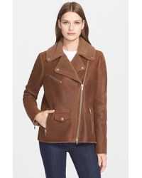 VEDA Natural 'Rock' Genuine Shearling Jacket