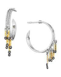 Coomi | Metallic Spring Tricolor Hoop Earrings With Diamonds | Lyst
