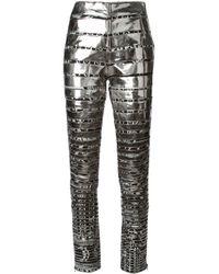 KTZ Metallic Patchwork Skinny Trousers