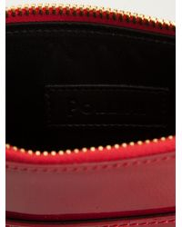 Pollini Red Patent Leather Clutch Bag