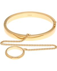 Chloé | Metallic Carly Gold-toned Finger Bracelet | Lyst