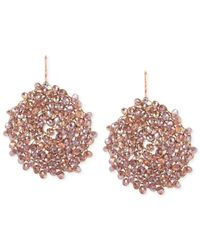Kenneth Cole Pink New York Rose Goldtone Blush Faceted Bead Drop Earrings