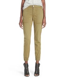 Joe's Jeans | Green 'Flight' Zip Ankle Jogger Pants | Lyst