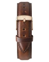 Daniel Wellington Brown 'classic St. Mawes' 20mm Leather Watch Strap