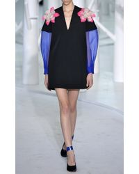 Delpozo - Black Double Faced Mini Dress - Lyst