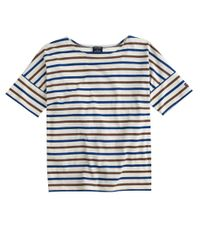J.Crew - Blue Saint James Short-sleeve Slouchy T-shirt - Lyst