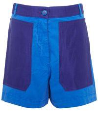 Acne Studios | Blue Kitty Gd Patch Pocket Shorts | Lyst