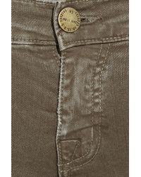 Current/Elliott Green The Skinny Cargo Low-rise Cargo Pants