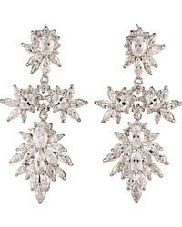 Fallon | Metallic Women's Cluster Marquis Statement Drop Earrings | Lyst