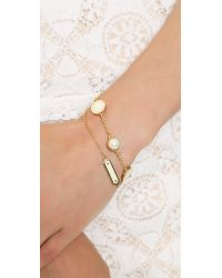 Marc By Marc Jacobs - Metallic Medley Bracelet Cream - Lyst