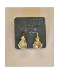Tai | Metallic Cat's Eye Drop Earring | Lyst