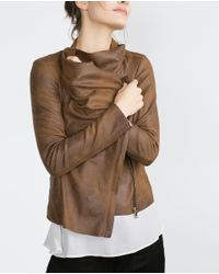 Zara | Natural Faux Suede Overshirt | Lyst