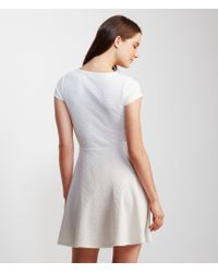 Aéropostale   Natural Cap Sleeve Textured Fit & Flare Dress   Lyst