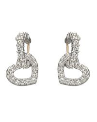 Swarovski Metallic Heart Dangle Crystal Pav?? Earrings