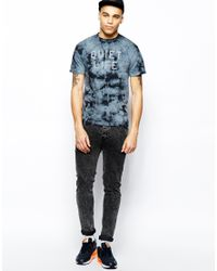 The Quiet Life | Gray Tshirt with Stormy Tie Dye for Men | Lyst