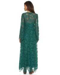 Free People Blue Cool & Sensual Lace Maxi Dress - Ballet