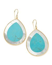 Ippolita | Blue Polished Candy Jumbo Teardrop Earrings Turquoise | Lyst
