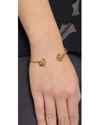 kate spade new york Metallic Dainty Sparklers Knot Bracelet - Gold