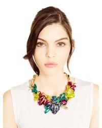 Oscar de la Renta - Metallic Swarovski® Crystal Tulip Necklace - Lyst