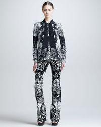 Roberto Cavalli | Black Damascusprint Pants | Lyst