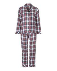 TOPSHOP - Red Check Pyjama Set - Lyst