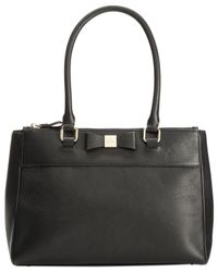 kate spade new york | Black Renny Drive Small Reena Tote | Lyst