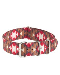 J.Crew - Red Patterned Watch Strap for Men - Lyst