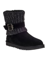UGG - Cambridge Ankle Boot Black Suede - Lyst