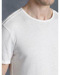 John Varvatos - White Cotton Crewneck for Men - Lyst