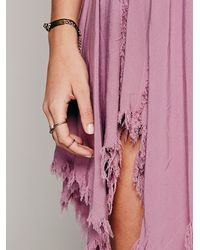 Free People Pink Tattered Up Shred Slip