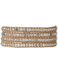 Chan Luu | Gray 32' Grey Pearl Crystal Wrap Bracelet | Lyst