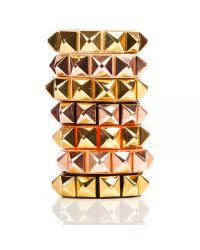 Linea Pelle | Metallic Grayson Wide Stud Bracelet | Lyst