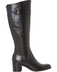 Dune Black | Black Tommie Leather Knee-high Boots | Lyst