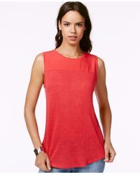 Sanctuary | Red Sleeveless Contrast Top | Lyst