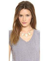 House of Harlow 1960 Metallic Five Station Necklace Nude