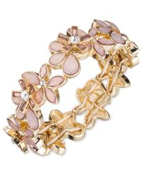 Anne Klein | Metallic Flower Power Pink Bracelet | Lyst