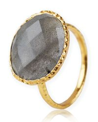 Argento Vivo | Metallic Stone Ring | Lyst