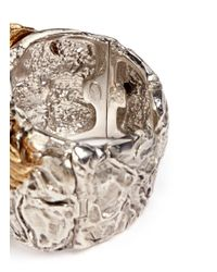 Giuseppe Zanotti | Metallic Eagle Metal Cuff | Lyst